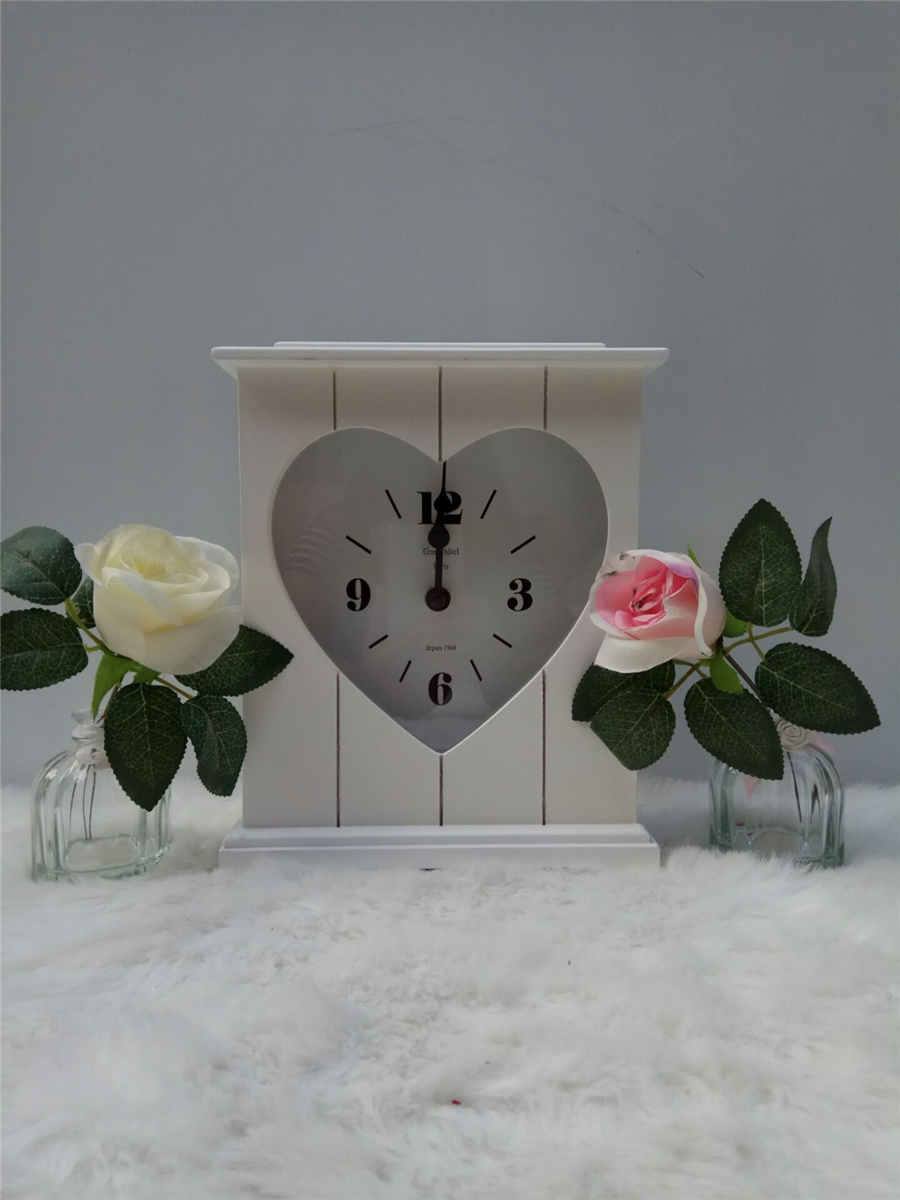 cheap MDF wodoen clock standing