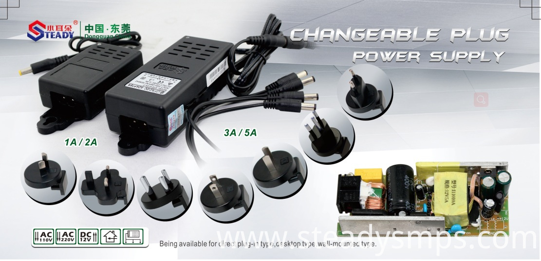 Plug Type Power Supply Changeable