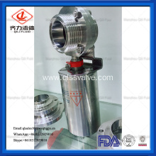 SS304/SS316L sanitary thread pneumatic butterfly valve