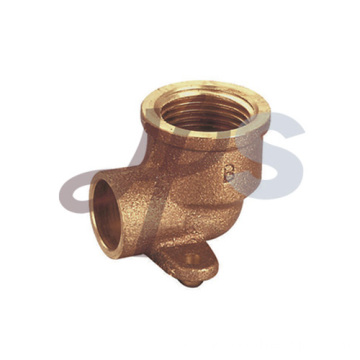 Bronze welding wallplate elbow fitting