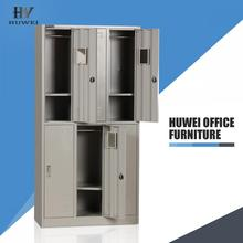 Metal six door changing room clothes cabinet