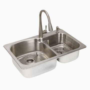 Kitchen Double Bowl Large Size Stainless Steel Sink