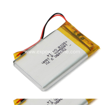 Quality Assured 783450 3.7V 1400mAh 5.18Wh Lipo Battery
