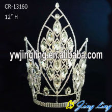 "Factory wholesale price for Pageant Crowns and Tiaras 12"" Chunky Big Stone Pageant Crowns Accessories export to Tajikistan Factory"