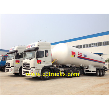 58.5cbm Tri-axle LPG Semi Trailer Tanks