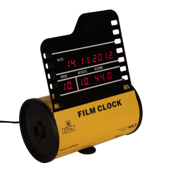 Horizontal Film Alarm Digital Clock
