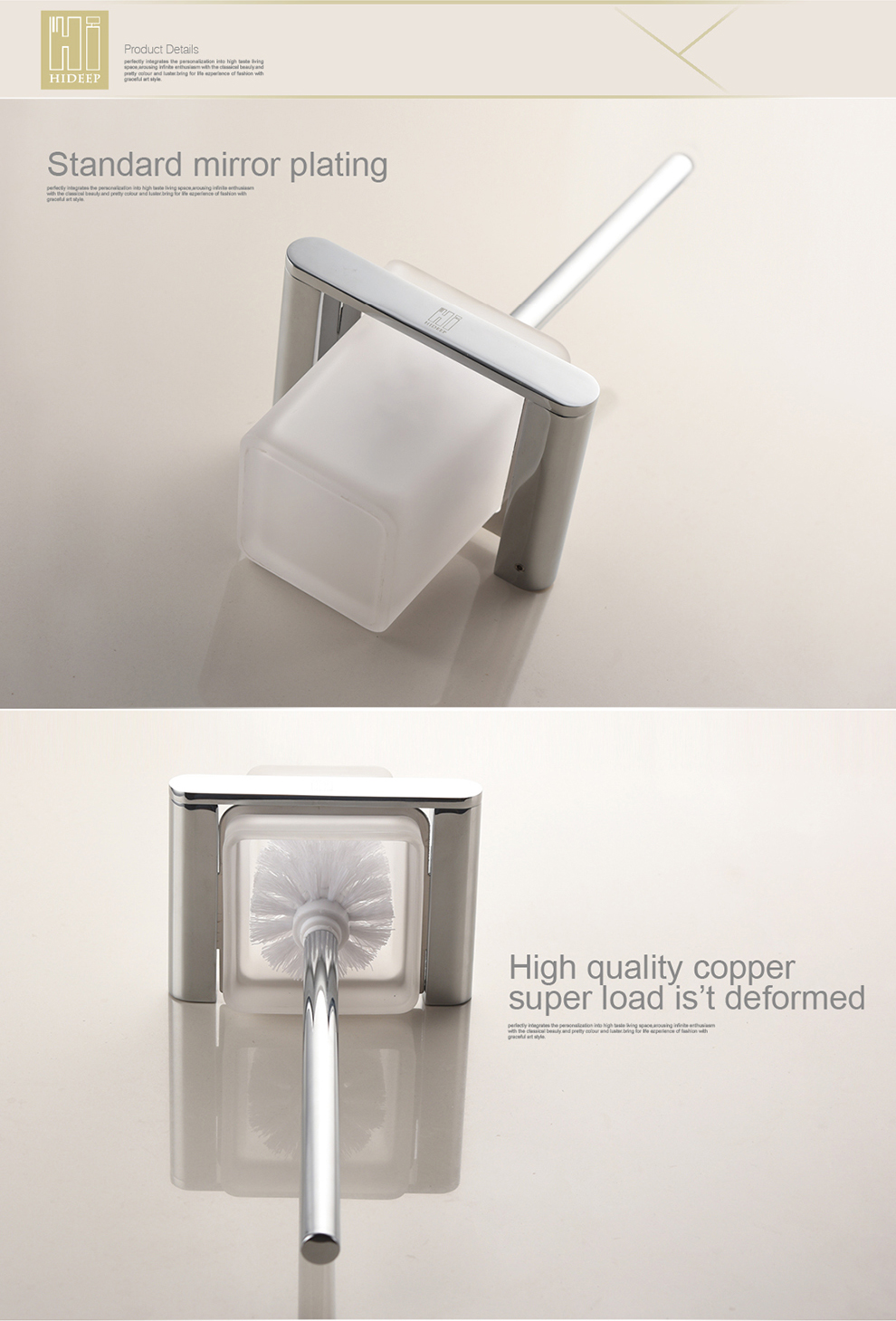 Chrome Toilet Brush Holder