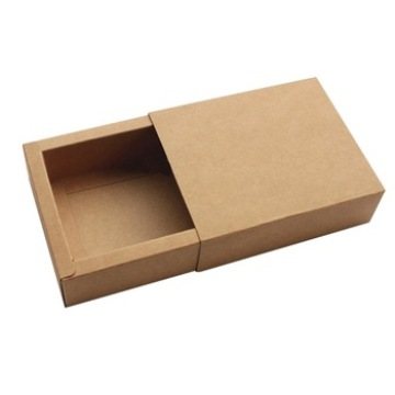 Plain Simple Design Kraft Drawer Gift Paper Box