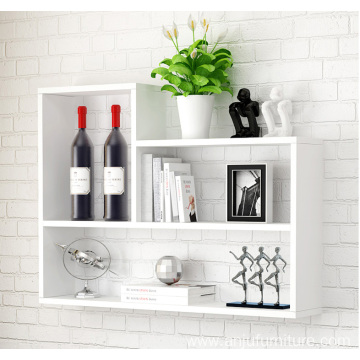 Home colorful MDF Shelf  hanging wall closet