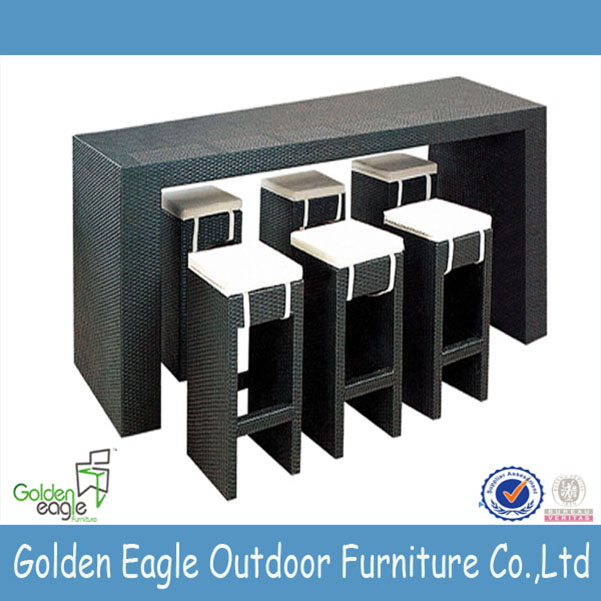 aluminium tube PE wicker furniture outdoor