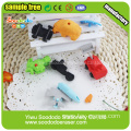 cool eraser for boys traffic rubber sets