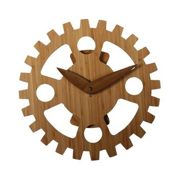 Bamboo moving wall clock without numbers