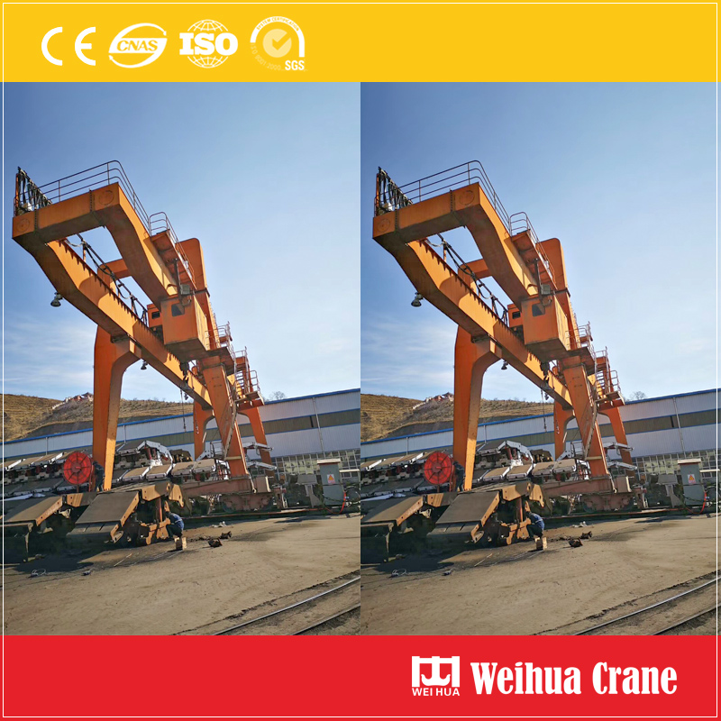 Double Girder Gantry Crane At Working Site