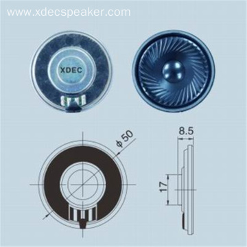 XDEC supply 50mm Mylar speaker 8ohm 1W ultra-thin walkie talkie waterproof speaker