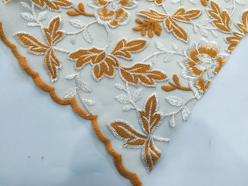 Garment Flower Embroidery Fabric