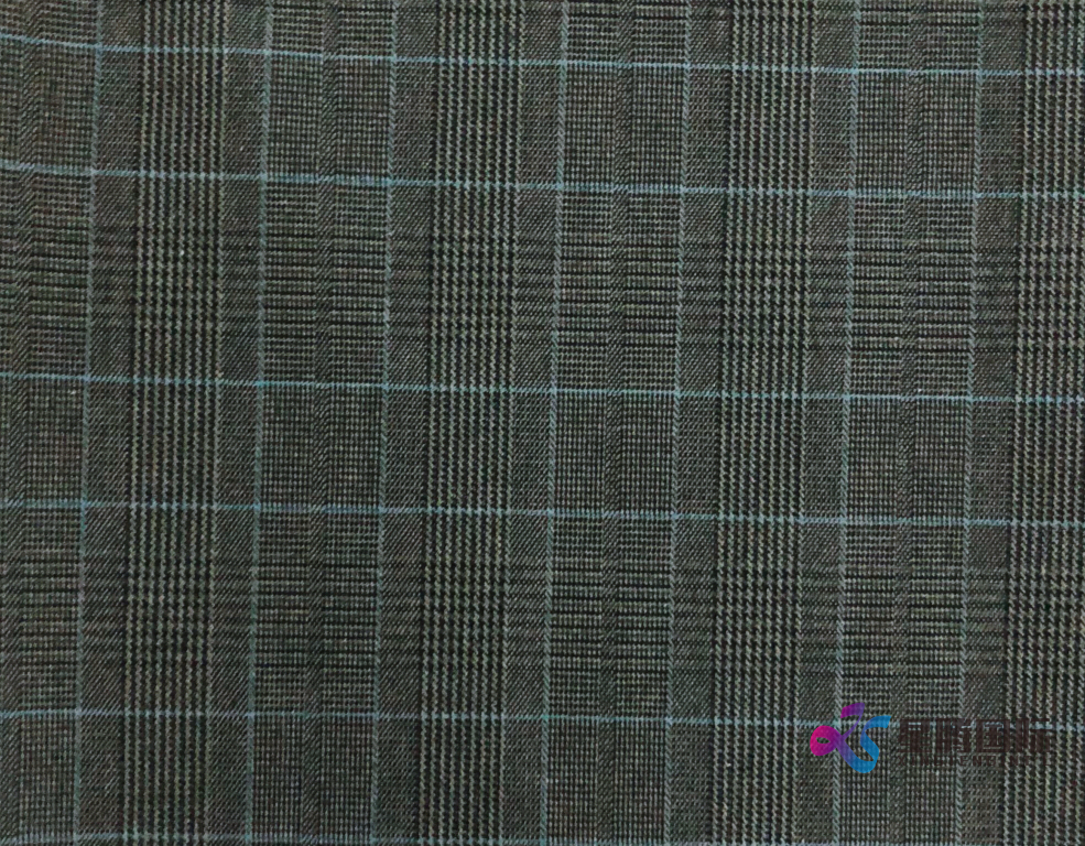 Check Pattern TR Stretch Fabric