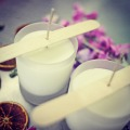 100% essential oil soy wax frosted jar candle