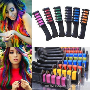 Hair Chalk Comb Shimmer Temporary Hair Color Cream