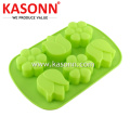 6 Cavity Silicone Flower Soap Cupcake Moulds