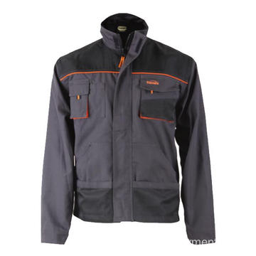 T/C canvas grey whith black jacket
