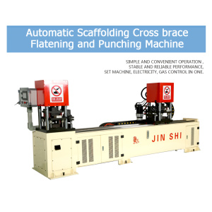 Good cross brace flattening punching machine