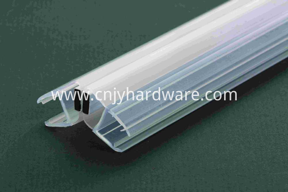 Glass To Glass Seal PVC shower glass door waterproof stripping