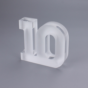 Large Clear Acrylic Numbers For Displaying