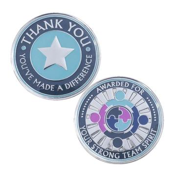 Custom silver enamel painted coins