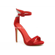 Red/Pink Ladies Heel Shoes in Summer