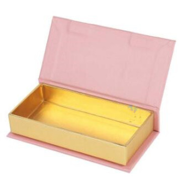Custom Printed Magnetic Gold Eyelash Packaging Box