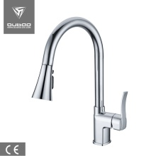 China for Chrome Finished Kitchen Faucet Pull out spout Kitchen Sink Faucets export to Netherlands Factories