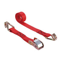 "1""Cam Buckle With Lashing Belt 680KG Red Polyester"