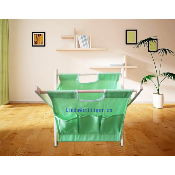 Wooden Collapsible laundry basket high capacity Washing Basket