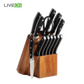 13 pcs Kitchen Knife Set With Acacia Stand