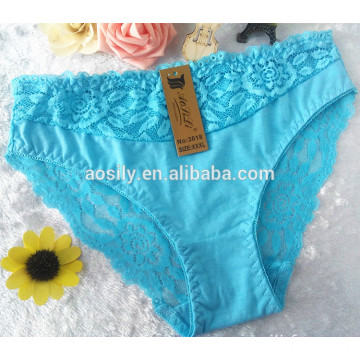 AS-3018 wholesale sexy lace panty fashion briefs for women custom elastic waistband underwear