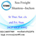 International Freight Shipping Rates by Sea Container Shipping From China to Busan, Incheon