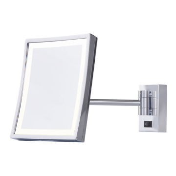 Single arm 3x vanity mirror with lights