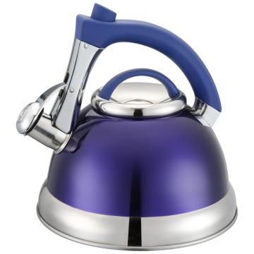 Purple Whistling Kettle With Blue Handle