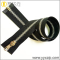 3 shinny Gold metal zipper for pillow