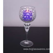 Original Factory for Pillar Candle Holders mouth blown glass hurricane candle holders export to Poland Manufacturer