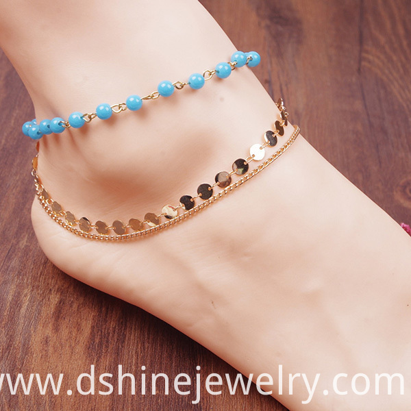 Simple Handmade Ankle Bracelets For Women