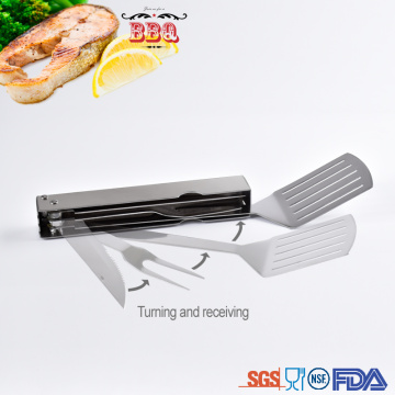 Multi functional stainless steel barbecue tools