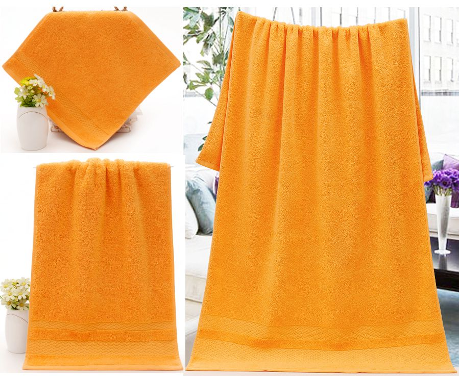 Orange Bath Towel Hand Towel Washcloth
