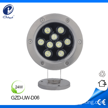 24W underwater mounting IP68 led pond lamp