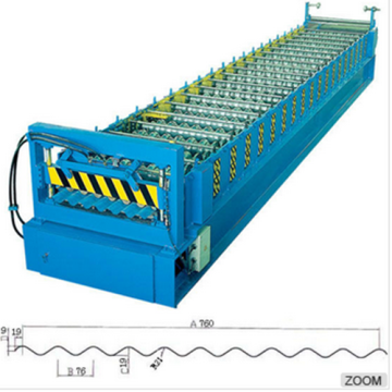 Automatic galvanized corrugated roofing sheet machine