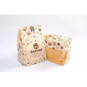 Flat Bottom Bread Paper Bag with Window