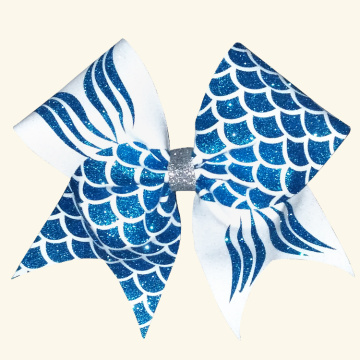 Mermaid Print Custom Competition Bows