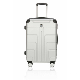 Super mute silver ABS luggage case
