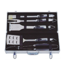 5pcs bbq tool set with aluminum box