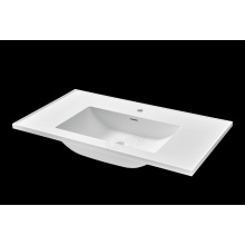 Pure acrylic/stone resin washbasin for bathroom cabinet